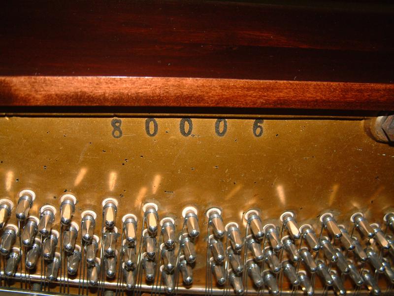 Piano Serial Numbers Piano Emporium
