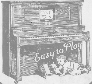 Early 20th Century Player Piano