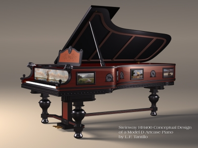 Steinway HH400 Conceptual Design of a Model D Artcase Piano by L.F. Tantillo
