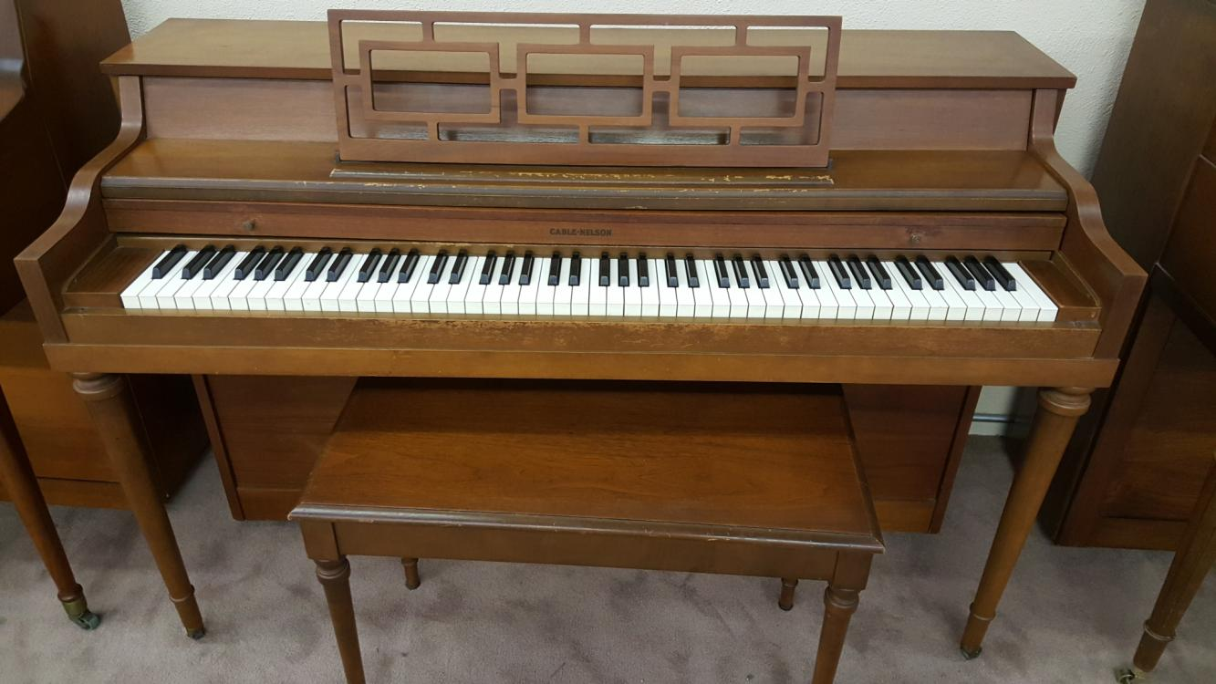 uprights-used-Cable-Nelson-Spinet-walnut