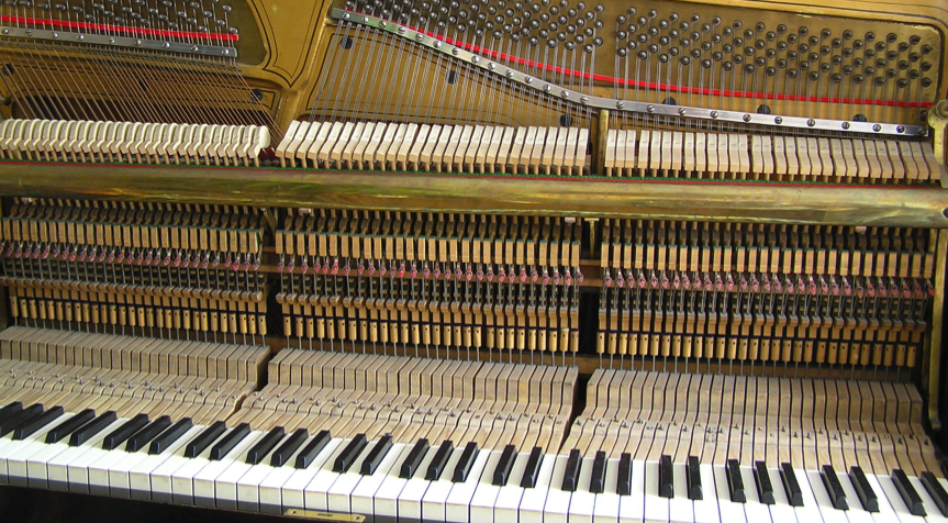 Piano Maintenance and Care Inside of an upright piano