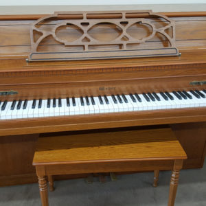 used-upright-Weber-43-oak-console