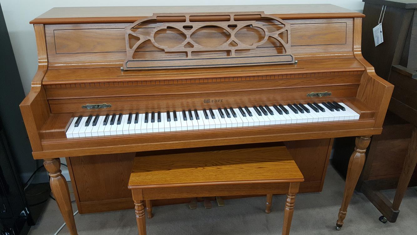 used-upright-Weber-43-oak-console