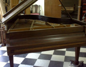 Steinway piano before restoration